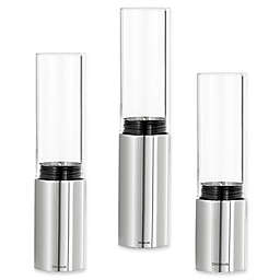 Blomus Faro 3-Piece Tealight Candle Holder Set in Polished Stainless Steel