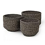 Blomus Round Cotton Baskets in Jute (Set of 3)