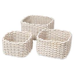 Blomus Corda 3-Piece Decorative Basket Set in Sand
