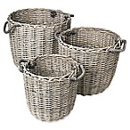 Blomus Peeled Willow Round Baskets (Set of 3)