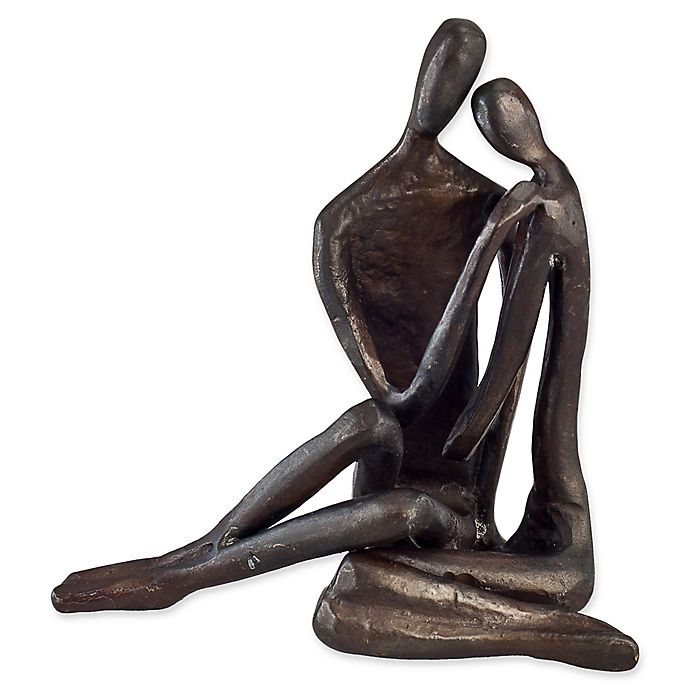 Alternate image 1 for Danya B.™ Couple Embracing 4-Inch Bronze Sculpture