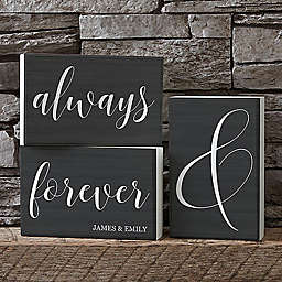 Always & Forever Shelf Blocks (Set of 3)