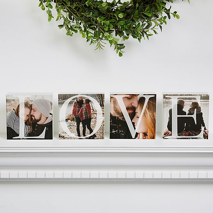 Alternate image 1 for Love Photo Square Blocks (Set of 4)