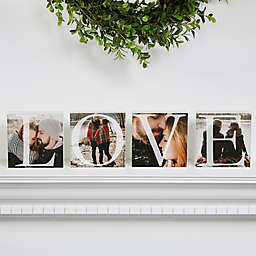 Love Photo Square Blocks (Set of 4)