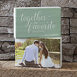 Together is Our Favorite Place to Be Shelf Blocks (Set of 2)