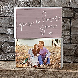 P.S.I Love You Shelf Blocks (Set of 2)
