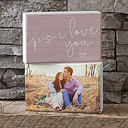 P.S.I Love You Shelf Blocks (Set of 2)
