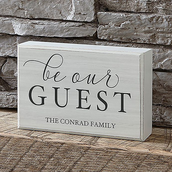 Alternate image 1 for Be Our Guest Rectangle Shelf Block