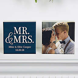 Mr.& Mrs. Photo Shelf Blocks (Set of 2)