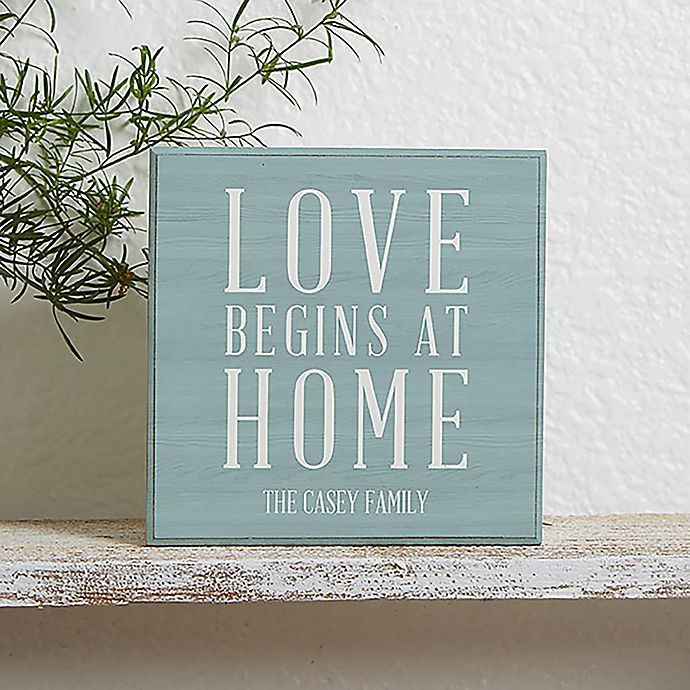 Alternate image 1 for Love Begins at Home Shelf Block