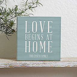 Love Begins at Home Shelf Block