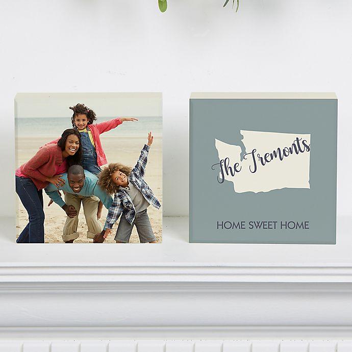 Alternate image 1 for State Pride Shelf Blocks (Set of 2)