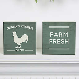 Farmhouse Kitchen Shelf Blocks (Set of 2)