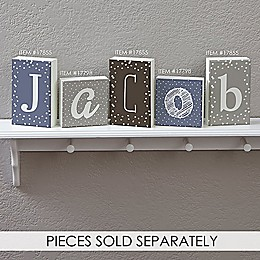 Single Letter Décor Rectangle Shelf Blocks