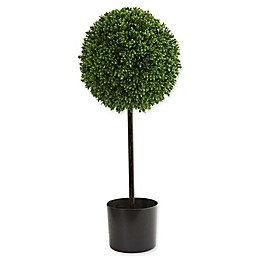 Nearly Natural 12-Inch Boxwood Ball Artificial Topiary Tree in Green