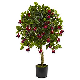 Nearly Natural 20-Inch Fuchsia Artificial Tree in Green