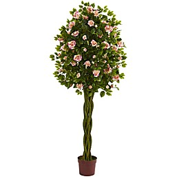 Nearly Natural 28-Inch Rose Artificial Tree in Pink