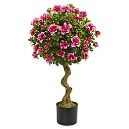 Nearly Natural 19-Inch Azalea Artificial Topiary Tree in Pink
