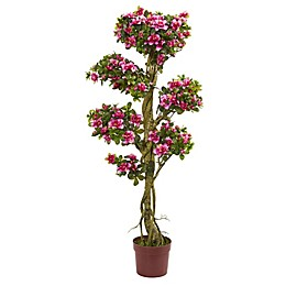 Nearly Natural 20-Inch Azalea Artificial Tree in Pink