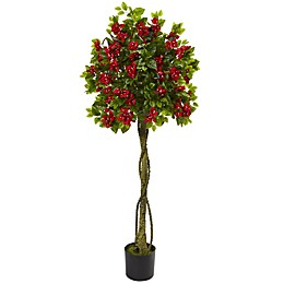 Nearly Natural 26-Inch Bougainvillea Artificial Topiary Tree in Green