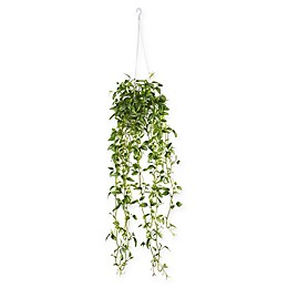 Nearly Natural 34-Inch Variegated Wandering Jew Artificial Plant with Hanging Basket