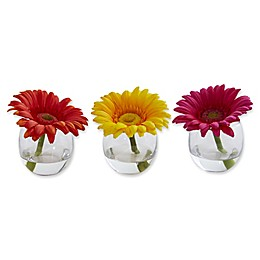 Nearly Natural 4-Inch Daisy Artificial Arrangement (Set of 3)