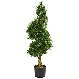 Nearly Natural 18-Inch Spiral Boxwood Artificial Tree in Green
