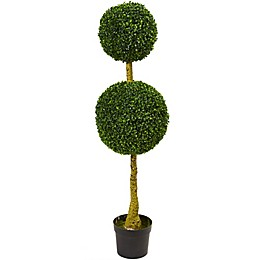 Nearly Natural Double Topiary Boxwood Tree