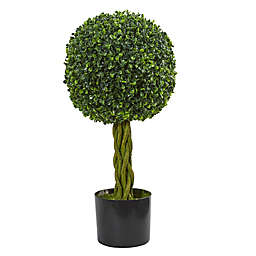 Nearly Natural 12-Inch Boxwood Ball Artificial Tree in Green
