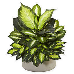 Nearly Natural 23-Inch Giant Dieffenbachia Plant in Stone Planter