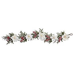 Nearly Natural 60-Inch Magnolia & Berry Artificial Garland