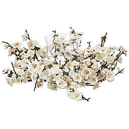 Nearly Natural Plum Blossom Candle Holder