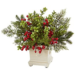 Nearly Natural 12-Inch Pine Artificial Arrangement