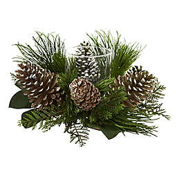 Nearly Natural 21-Inch Pine Cone Artificial Arrangement in Green