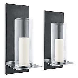 Blomus Finca Hurricane Candle Wall Sconce with Candle