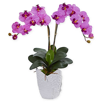 Nearly Natural 24-Inch Artificial Orchid Arrangement in Pink