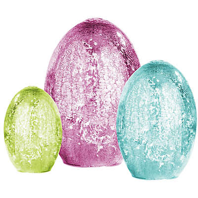 Home Essentials & Beyond Assorted LED Mercury Eggs (Set of 3)