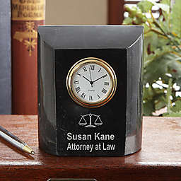 Attorney At Law Marble Desk Clock