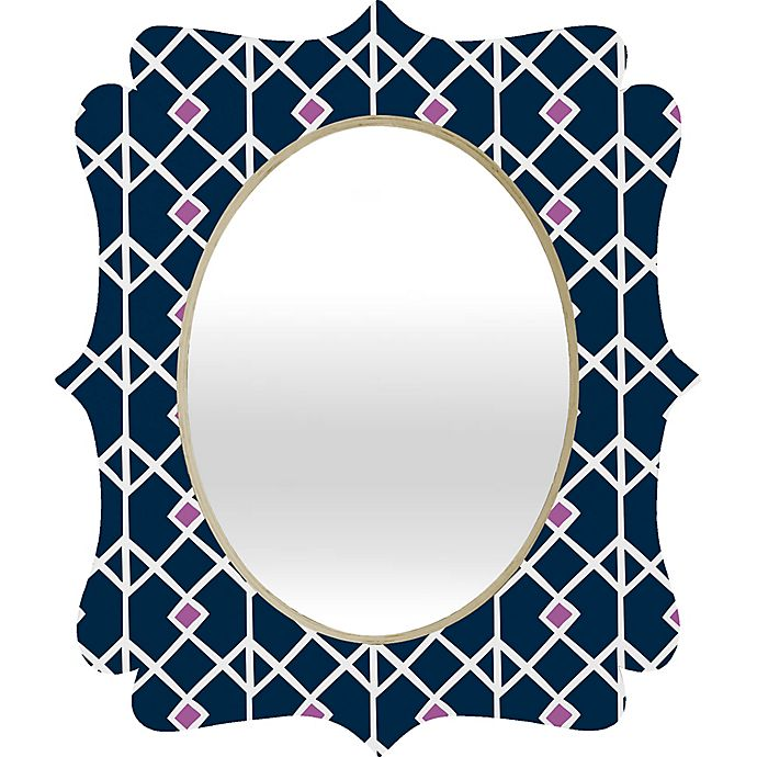 Alternate image 1 for Deny Designs Annika Diamond Orchid Wall Mirror