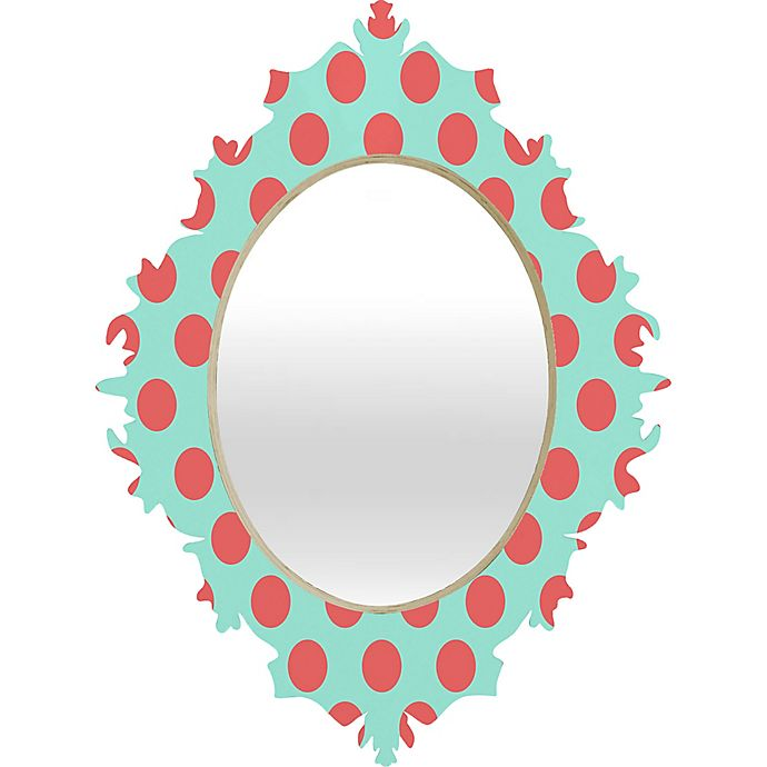 Alternate image 1 for Deny Designs Adorable Dots Baroque Wall Mirror