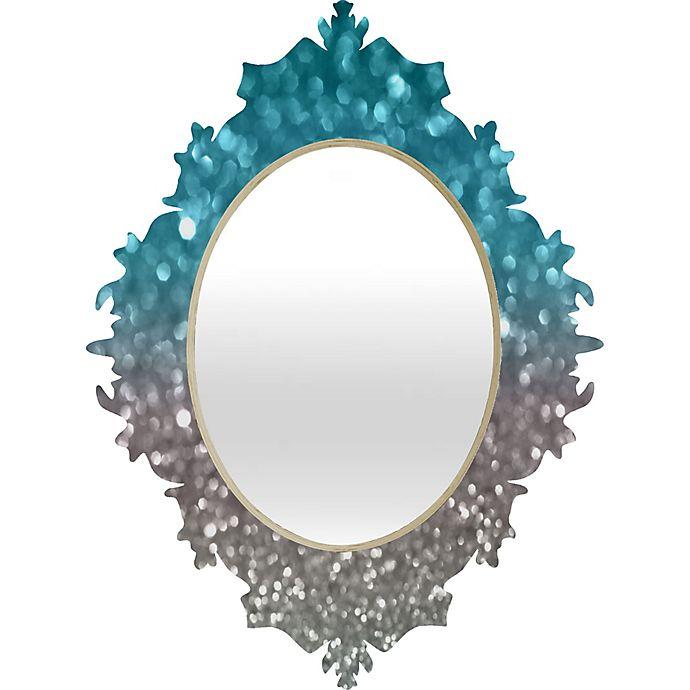 Alternate image 1 for Deny Designs Aqua and Grey Baroque Medium Wall Mirror