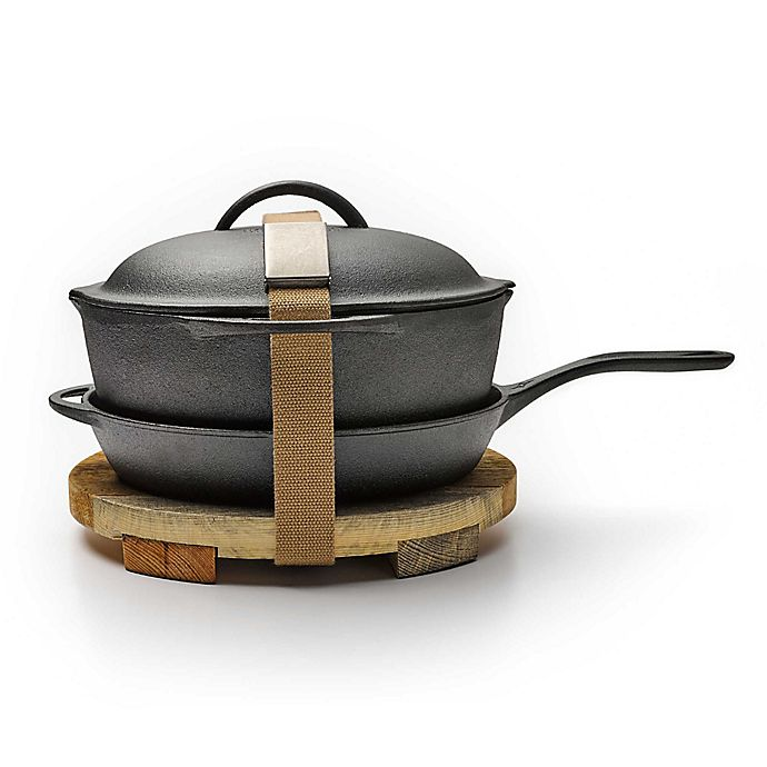 Alternate image 1 for Barebones Living The Mindful Chef 4-Piece Cast Iron Cookware Kit