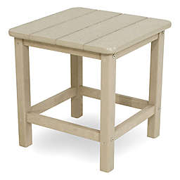 POLYWOOD® 18-Inch Seashell Side Table in Sand