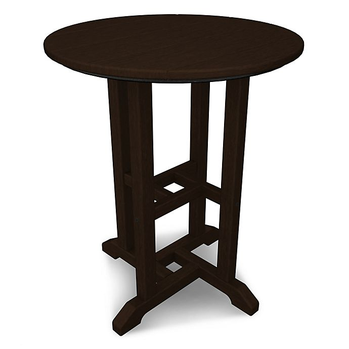 Alternate image 1 for POLYWOOD® Traditional 24-Inch Round Dining Table