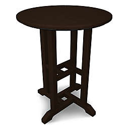 POLYWOOD® Traditional 24-Inch Round Dining Table