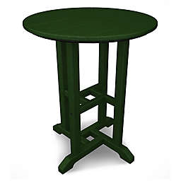 POLYWOOD® Traditional 24-Inch Round Dining Table in Green