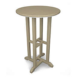 POLYWOOD® Traditional 24-Inch Round Counter Table in Sand