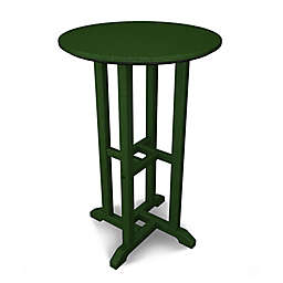 POLYWOOD® Traditional 24-Inch Round Counter Table in Green
