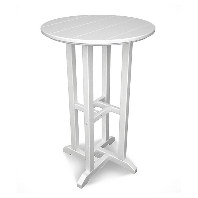 Alternate image 1 for POLYWOOD® Traditional 24-Inch Round Counter Table in White