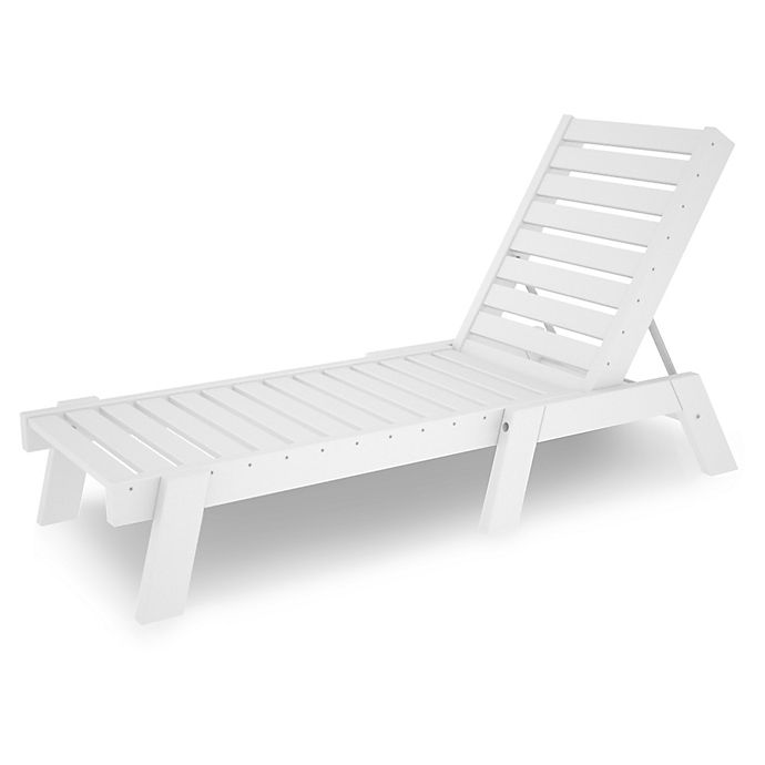 Alternate image 1 for POLYWOOD® Captain Chaise in White